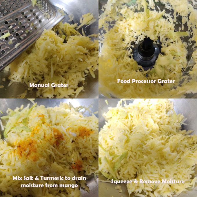 Cooking Steps of Aam Chunda