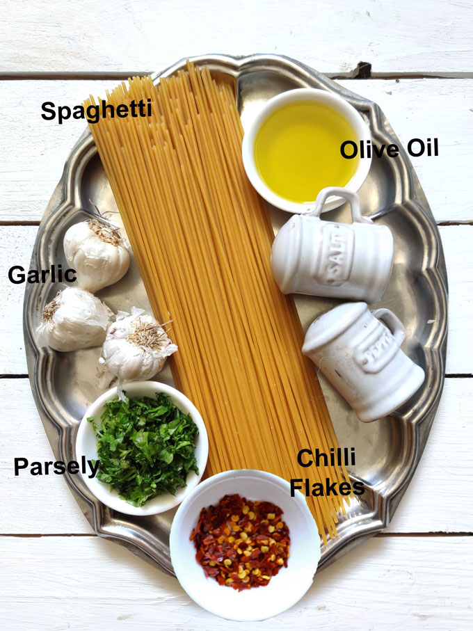 Ingredients For Pasta Aglio Olio