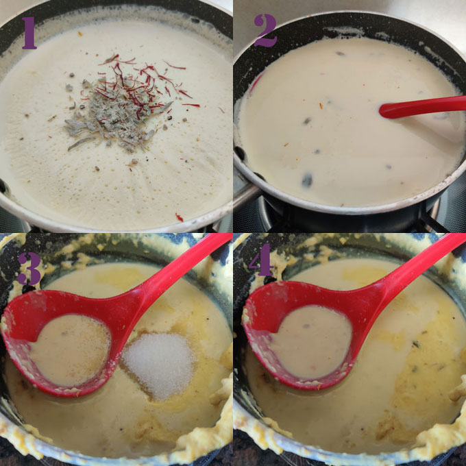 Collage Of Shahi Tukra Cooking Steps