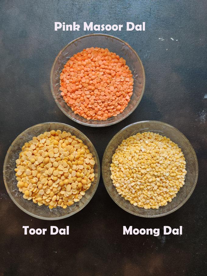 Lentils for making khichdi