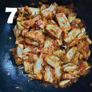 kathal sabzi cooking steps