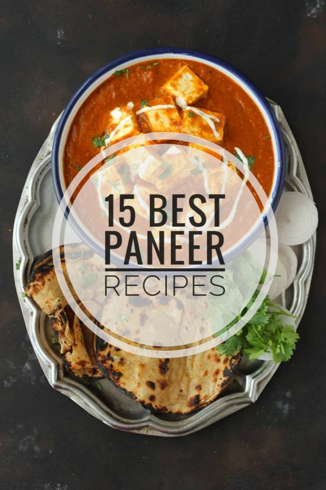 Collage of paneer recipes