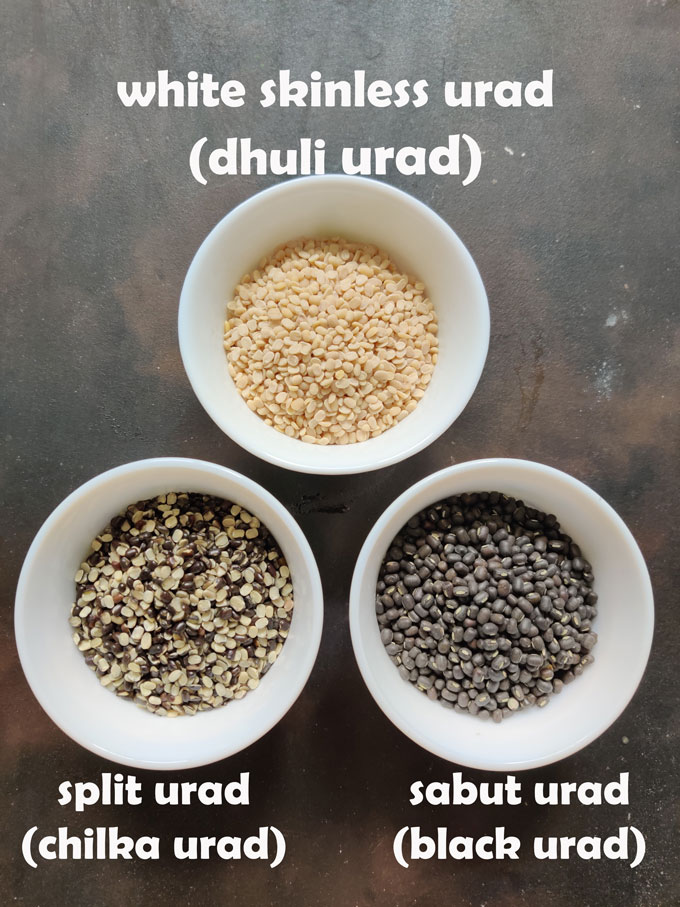 3 types of urad dal