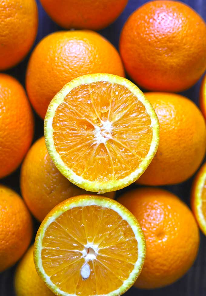 aerial shot of oranges