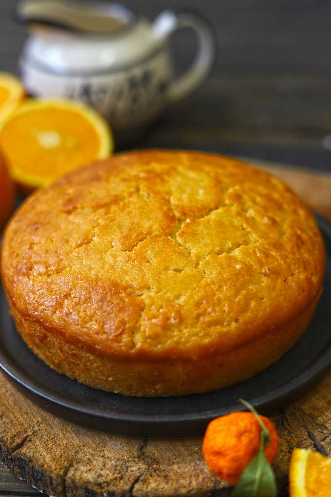 side shot of teatime orange cake