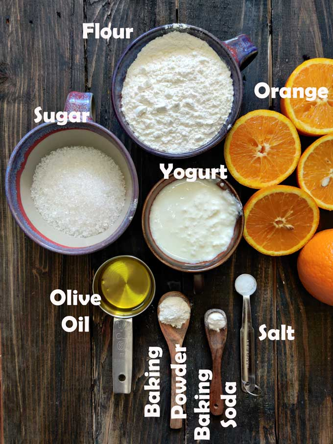 ingredients for orange cake