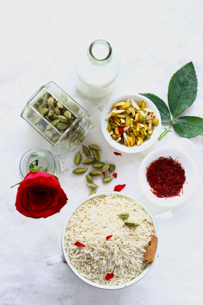 ingredients for making zarda