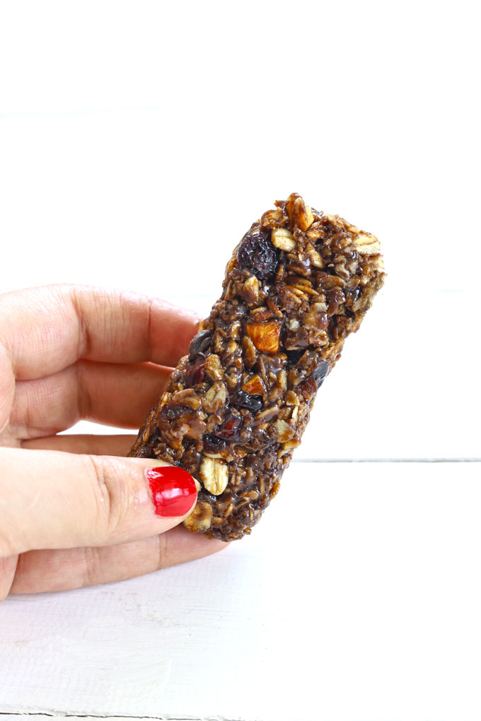side shot of chewy granola bar