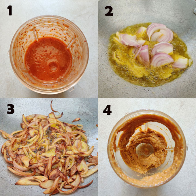 Step by step chicken curry making process