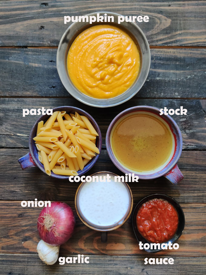 Ingredients For Pumpkin Sauce Pasta