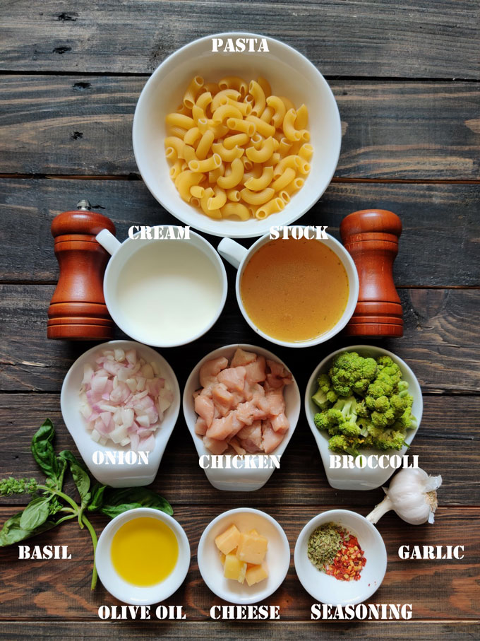 ingredients for instant pot broccoli pasta