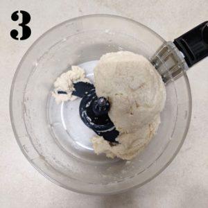 aerial shot of scone dough