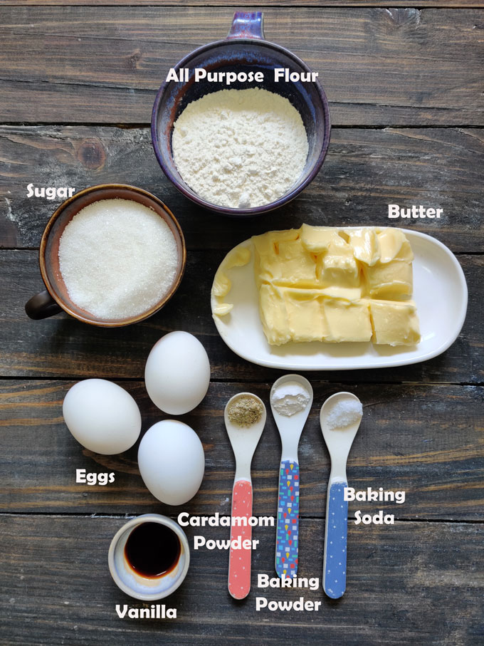 aerial shot of ingredients for making rusk