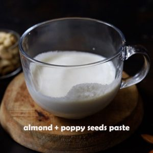 white poppy seeds and almond paste