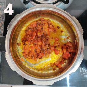 fried onion and tomato masala