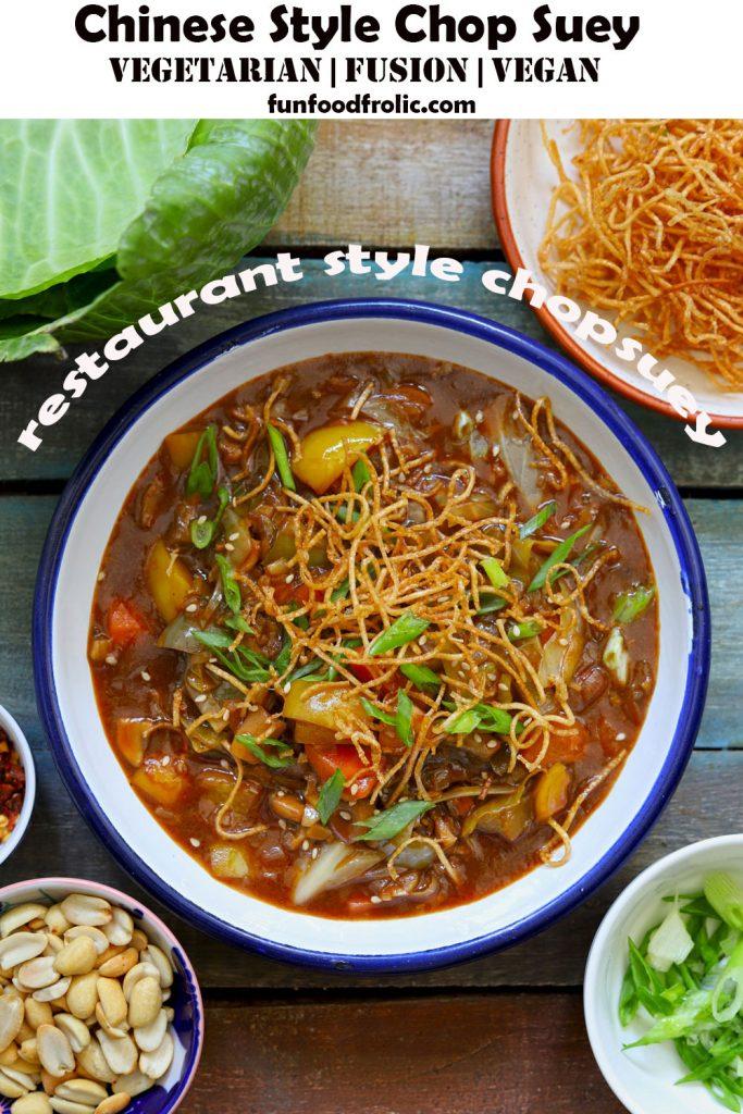 Veg Chinese Chop Suey