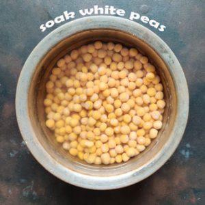 soaking white peas