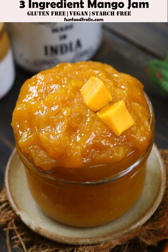 3 Ingredient Mango Jam