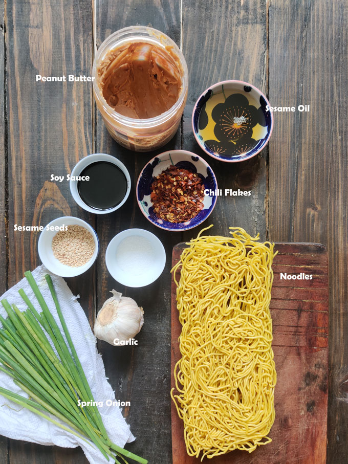 aerial shot of chilli oil ingredients