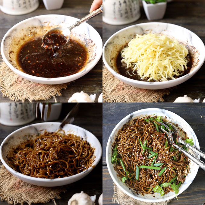 Chilli Oil Noodles Cooking Steps