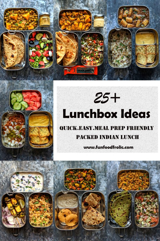 collage of indian lunchboxes for work