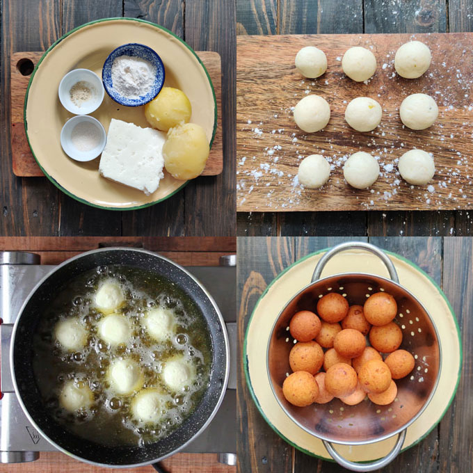 step by step images collage of making malai kofta